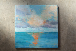 """Topical Sea"" original art, acrylic on canvas"