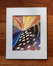 "Load image into Gallery viewer, ""Sanctuary I"" Abstract contemporary ORIGINAL watercolor painting, 8x10"