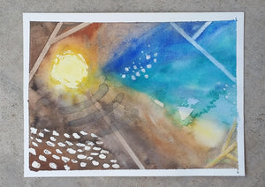 """Sanctuary II"" by Wanford original watercolor painting"