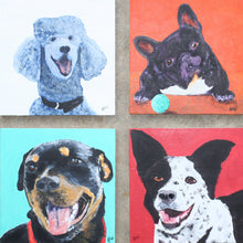 Load image into Gallery viewer, Custom Dog Portrait of Your Pet from YOUR PHOTO 10x10 or 12x12 canvas Original Painting