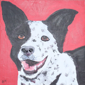 Custom Dog Portrait of Your Pet from YOUR PHOTO 10x10 or 12x12 canvas Original Painting