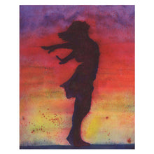 Load image into Gallery viewer, Original Watercolor Painting,  8x10, Woman Silhouette
