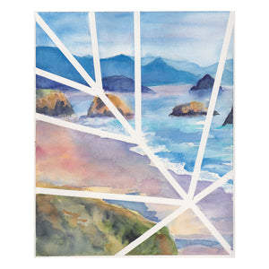 """Lines Over Ecola Beach"" by Kasey Wanford 8x10 print"