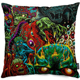 Monster Maker Throw Pillow