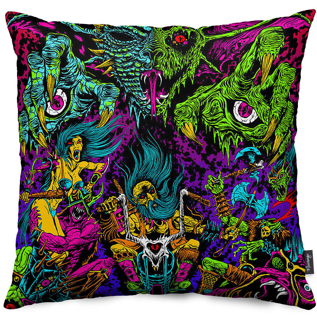 Space Biker Throw Pillow