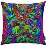 Dancing Death God Throw Pillow