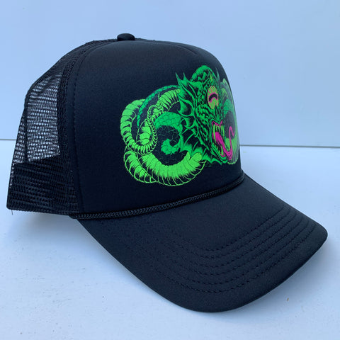 Devil snake trucker hat