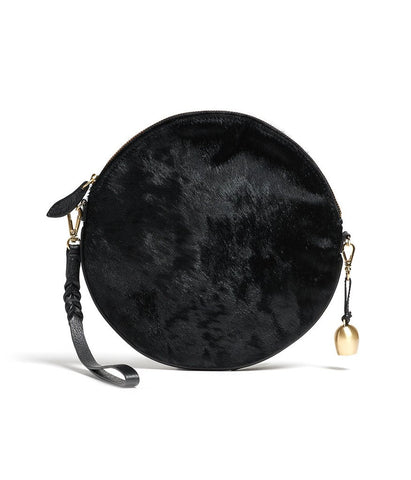 Bell & Fox – Round Crossbody Bag & Wristlet – Black Pony