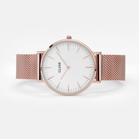 cluse mesh rose gold watch leggsington uk