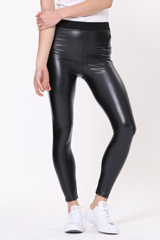 Patti faux leather leggings elasticated waistband