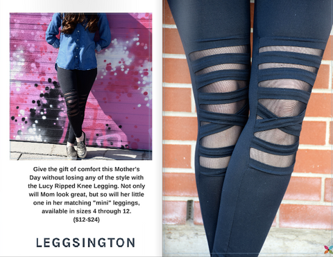 Savvy Sassy Moms Love Leggsington Lucy Leggings (Mom and Me)