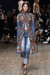 Alexander McQueen SS16 denim coat and jeans