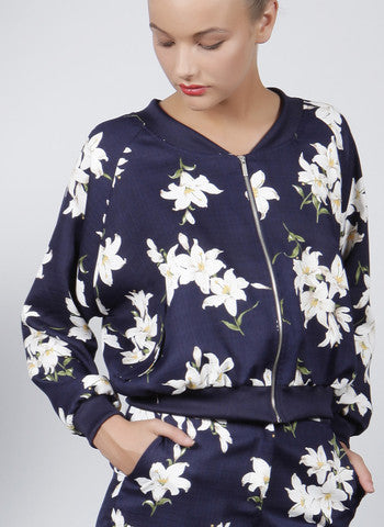 printed floral bomber jacket pretty feminine buy