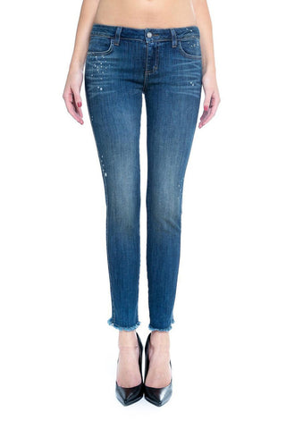 guardian blue jeans frayed hem Siwy denim leggsington shop online uk