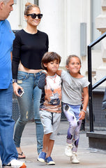 jlo blue jeans cool mom style