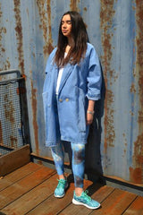 long denim jacket oversized cool