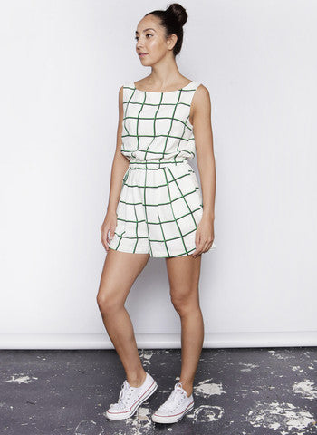 WHITE PRINTED PLAYSUIT SUMMER STYLE FESTIVAL GET BUY