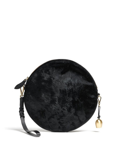 Bell & Fox - Round Crossbody Bag & Wristlet - Black Pony