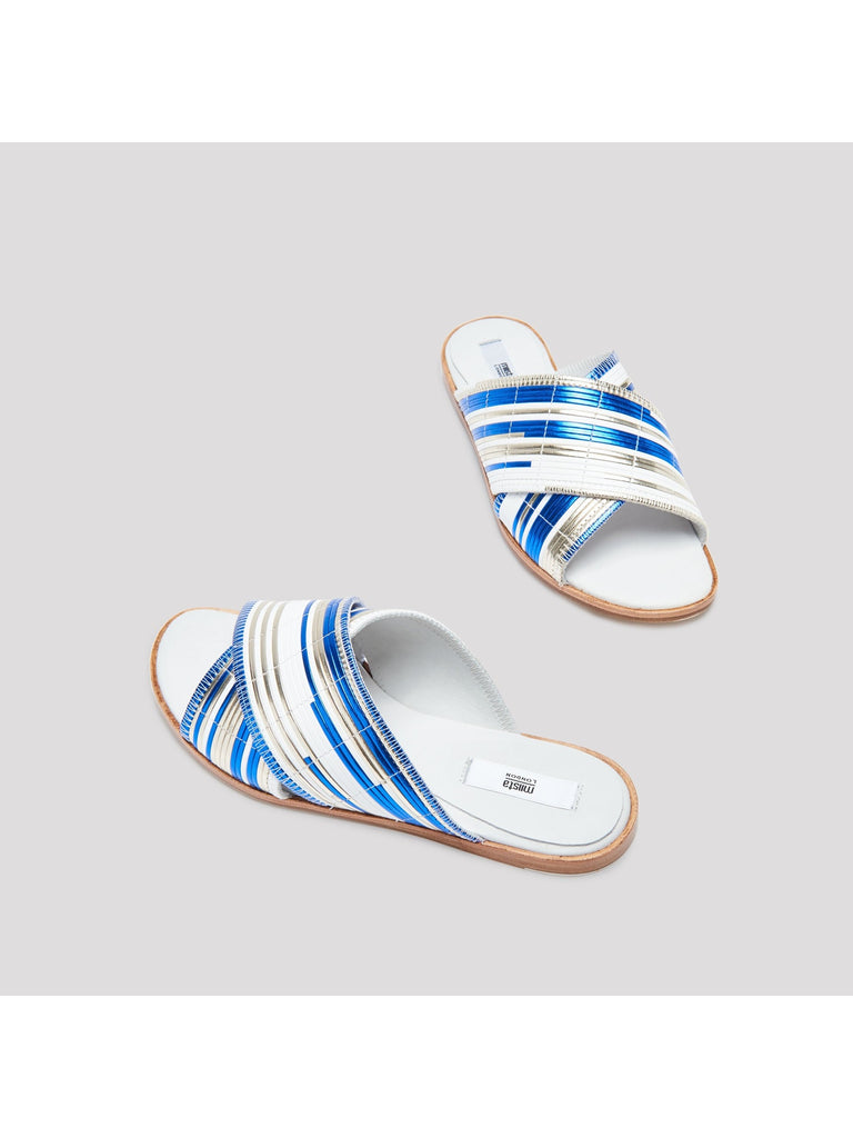 Miista - DEB BLUE RATTAN SANDALS-Shoes-Leggsington