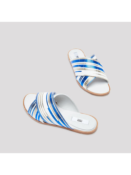 Miista - DEB BLUE RATTAN SANDALS