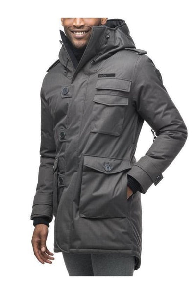 Nobis Mens - Shelby Padded Coat - Steel Grey