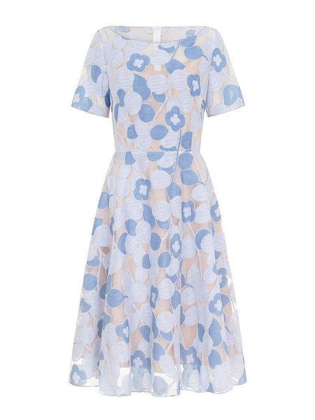 Emma Dress- Blue-Dress-Leggsington