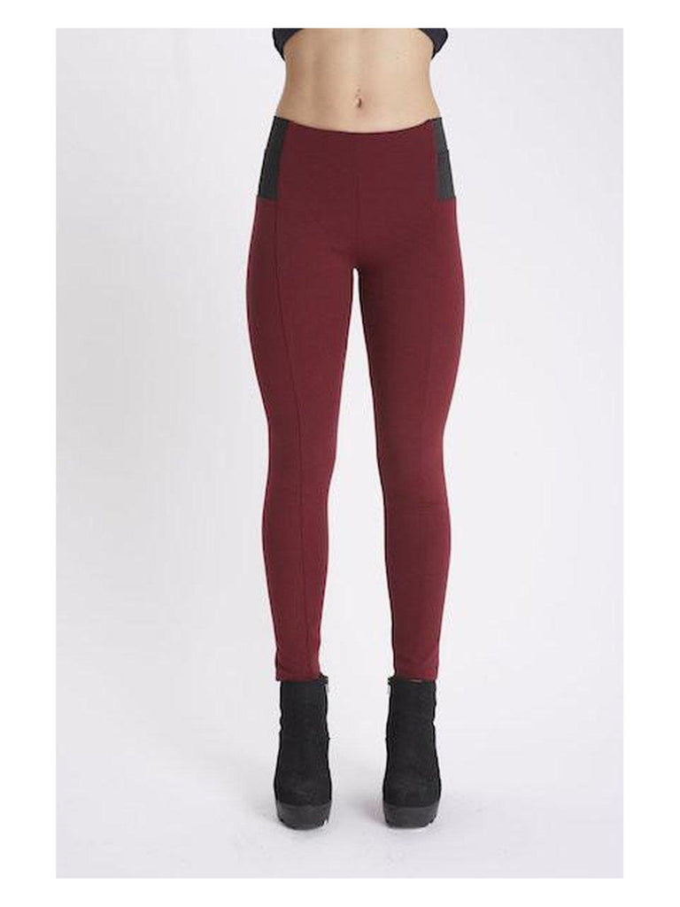Thea - Burgundy 'Wonderpant' Leggings-Pants-Leggsington