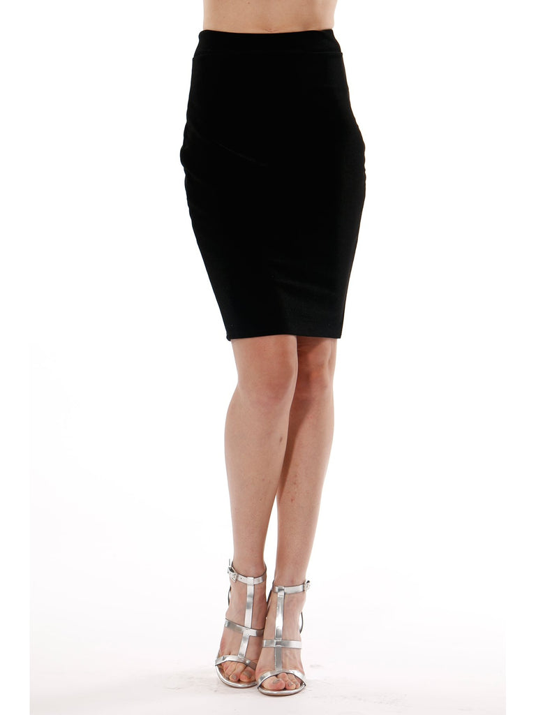 Rosa Velvet Skirt in Black