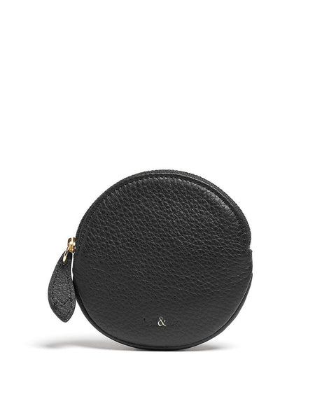 Bell & Fox - Round Coin Purse - Black-Bags-Leggsington