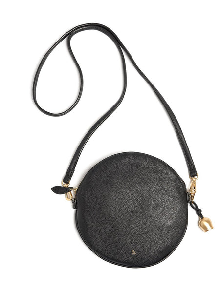 Bell & Fox - Round Crossbody Bag & Wristlet - Black-Bags-Leggsington
