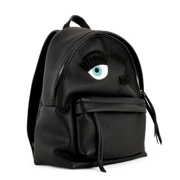 Chiara Ferragni - Black Flirting Backpack-Bags-Leggsington