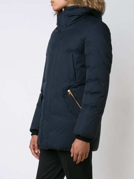 Mackage Men - Edward Down Jacket - Navy Blue-Outerwear-Leggsington