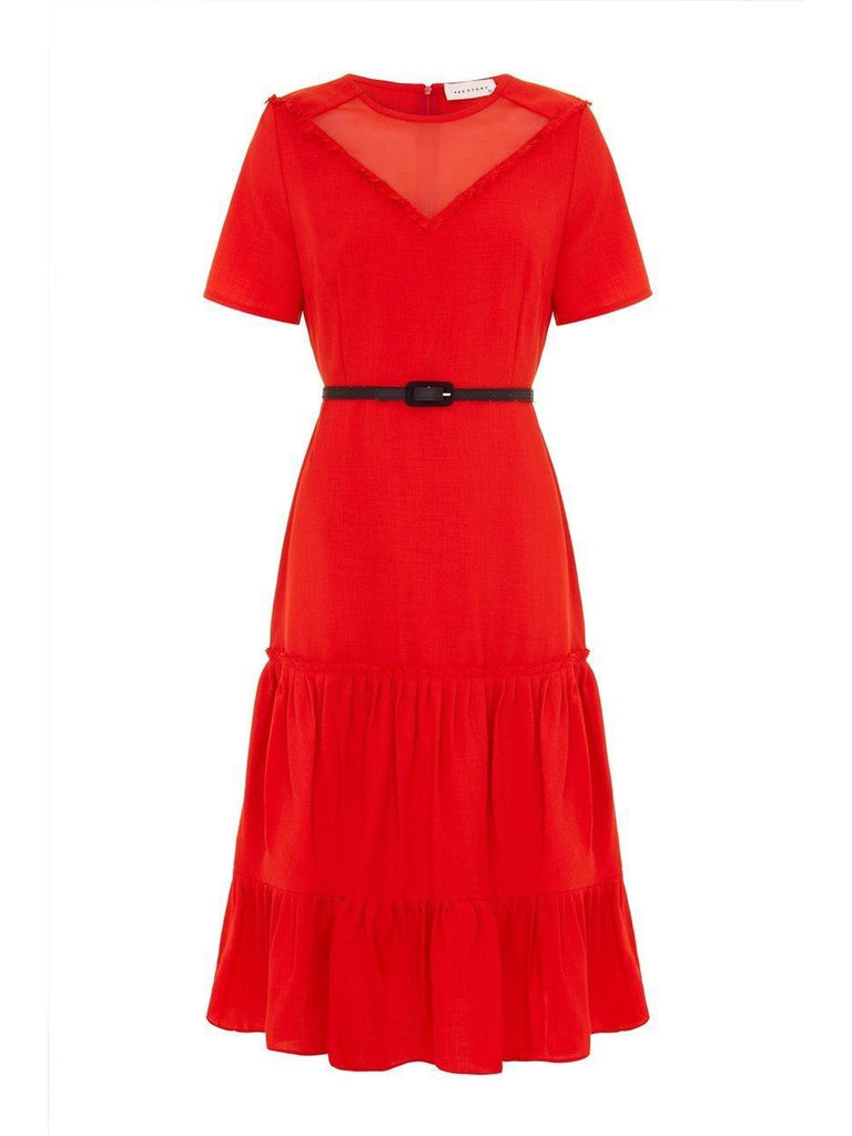 Jemma Dress- Red-Dress-Leggsington