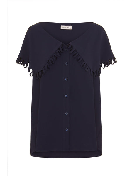 Taylor Blouse- Navy-Top-Leggsington
