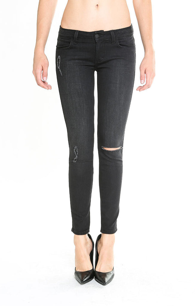 Siwy Jeans - Hannah in Black Magick - Skinny Cropped Jeans-JEANS-Leggsington