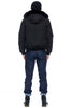 Moose Knuckles Mens Ballistic Bomber - Black with Black/Fox Fur