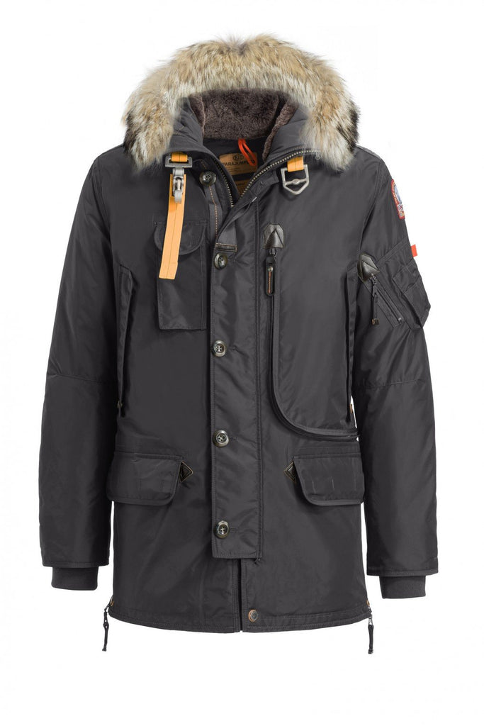 Parajumpers Men - Kodiak Masterpiece Parka Jacket - Anthracite-Outerwear-Leggsington