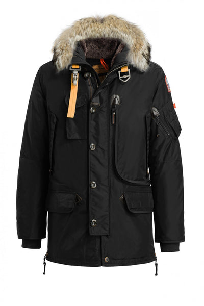 Parajumpers Men - Kodiak Masterpiece Parka Jacket - Black-Outerwear-Leggsington