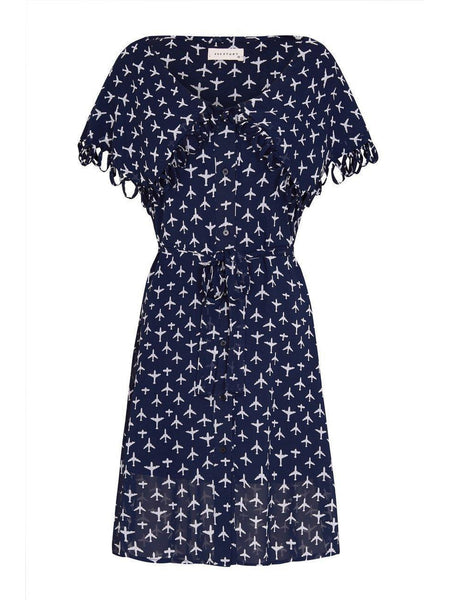 Taylor Dress- Navy-Dress-Leggsington
