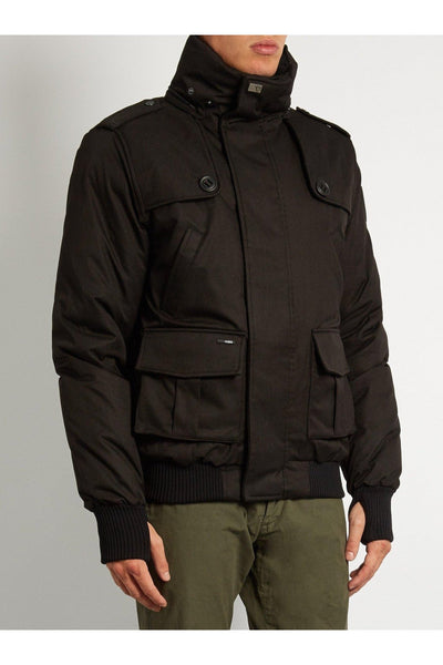 Nobis Mens - Cartel Bomber Jacket - Black-Outerwear-Leggsington