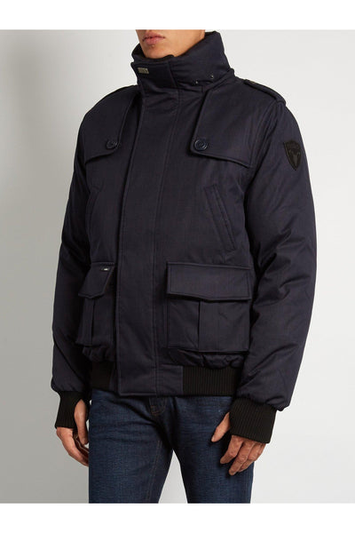 Nobis Mens - Cartel Bomber Jacket - Navy Blue-Outerwear-Leggsington