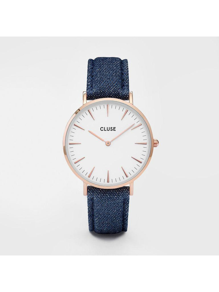 Cluse Watches - La Bohème - Rose Gold White/Blue Denim-Accessories-Leggsington