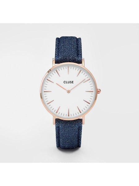Cluse Watches - La Bohème - Rose Gold White/Blue Denim