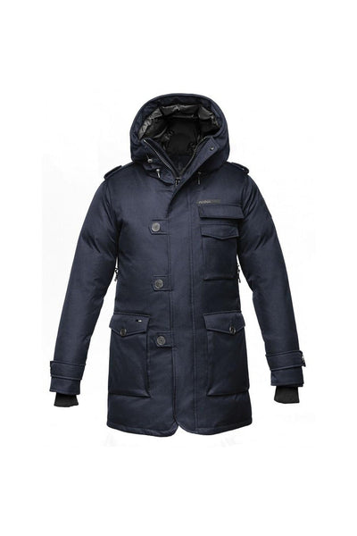 Nobis Mens - Shelby Padded Coat - Navy Blue-Outerwear-Leggsington