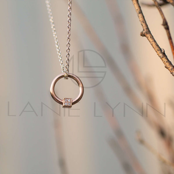 Pave Door Knocker Necklace - Lanie Lynn  - 2