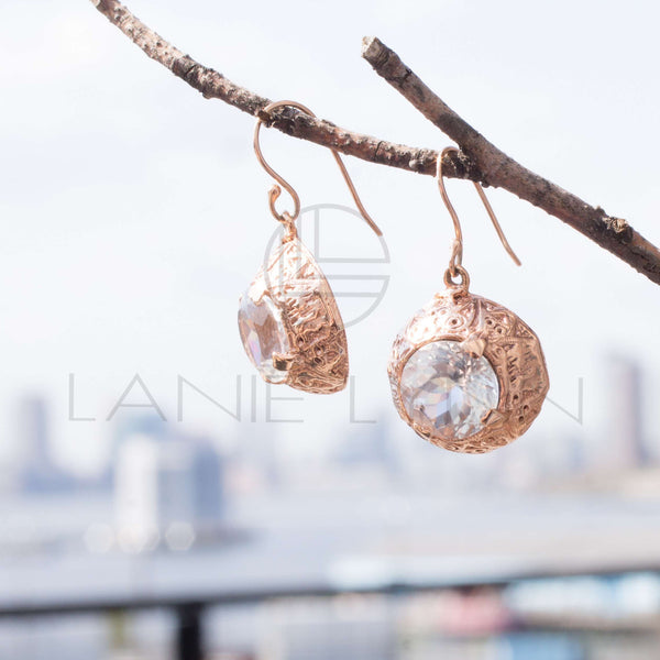 Dome Dangling Earrings - Lanie Lynn  - 2