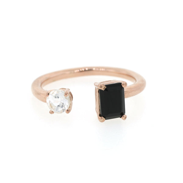 Onyx and Topaz Ring - Lanie Lynn  - 1