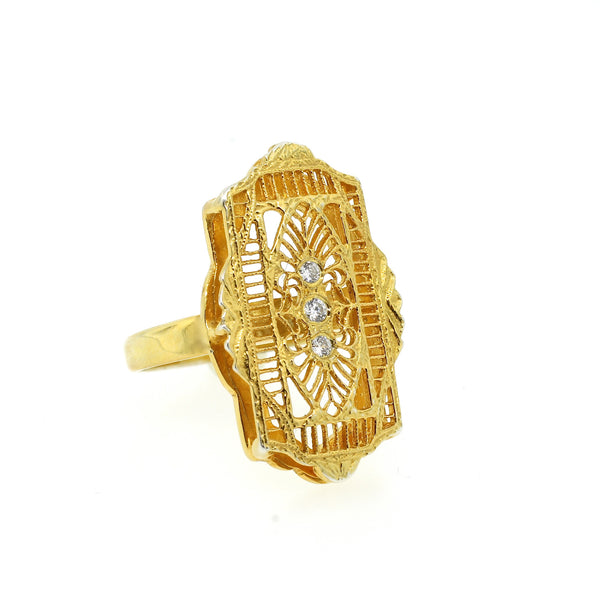 Filigree Deco Ring