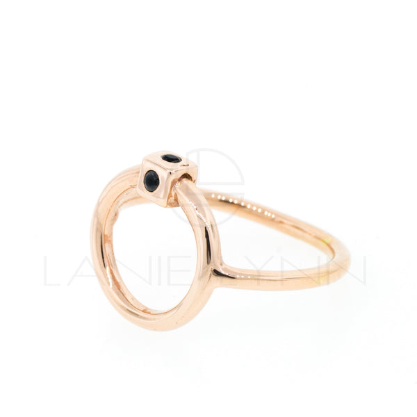 Door Knocker Ring with Stones - Lanie Lynn  - 1