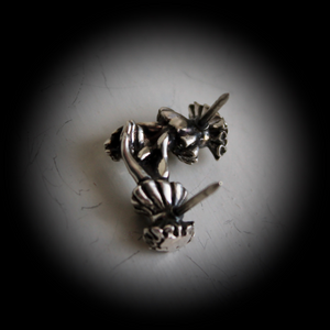 Repose ~ lapel pin / tie tack (silver) - Laura Flook